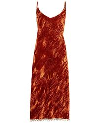Collina Strada - Barbarella Velvet Midi Dress - Lyst