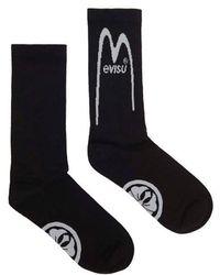 Evisu - Daicock Logo Jacquard Socks - Lyst