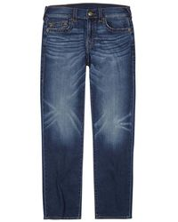 True Religion | Geno Blue Slim-leg Jeans | Lyst