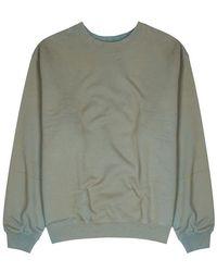 Yeezy - Green Faded Cotton Sweatshirt - Lyst