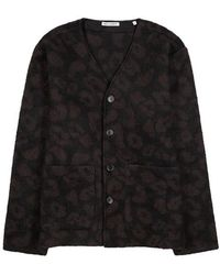 Our Legacy - Leopard-intarsia Knitted Cardigan - Lyst