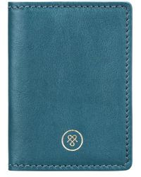 Maxwell Scott Bags - Petrol Full Grain Leather Oyster Card Case - Lyst