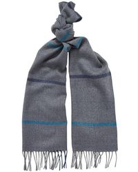 Chester Barrie - Lambswool Check Scarf - Lyst