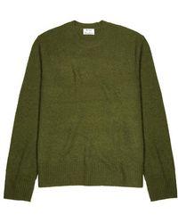 Acne Studios - Peele Olive Distressed Wool-blend Jumper - Lyst