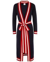 Madeleine Thompson - Ibis Striped Cashmere Cardigan - Lyst