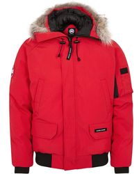 Canada Goose - Chilliwack Red Fur-trimmed Jacket - Lyst