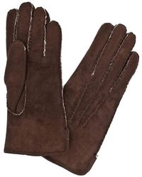 Dents - Brown Leather Gloves - Lyst