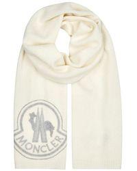 Moncler - Logo-appliquéd Wool-blend Scarf - Lyst