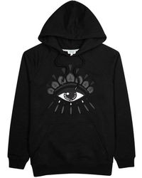 KENZO - Black Eye-embroidered Cotton Sweatshirt - Lyst