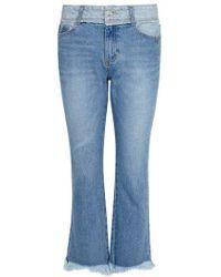 SJYP - Blue Cropped Kick-flare Jeans - Lyst