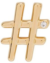 Gold Hashtag Brooch Marc Jacobs KgPcZsM