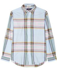 Polo Ralph Lauren - Blue Checked Cotton Shirt - Lyst