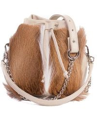 76dc35ae3564 Sherene Melinda - Natural Lou Lou Pouch Bag With A Fan - Lyst