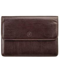 Maxwell Scott Bags - Handcrafted Luxury Brown Leather Travel Wallet - Lyst