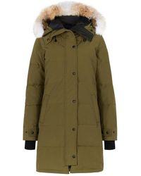 Canada Goose - Shelburne Army Green Fur-trimmed Parka - Lyst