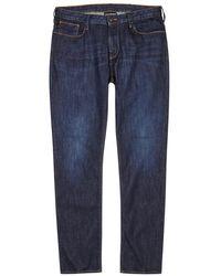 Emporio Armani - Blue Slim-leg Jeans - Lyst