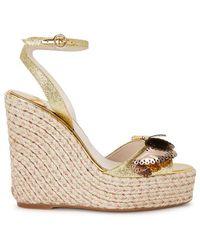Sophia Webster - Soleil Lucita Glittered Espadrille Wedge Sandals - Lyst