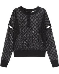 MILLY - Black Lace Top - Lyst