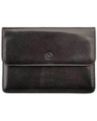 Maxwell Scott Bags - High Quality Black Italian Leather Travel Wallet - Lyst
