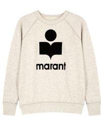 Étoile Isabel Marant - Milly Ecru Cotton-blend Sweatshirt - Lyst