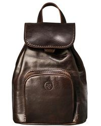 Maxwell Scott Bags - Elegant Brown Small Leather Women S Backpack - Lyst