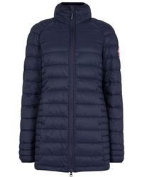 Canada Goose - Brookvale Navy Quilted Coat - Lyst