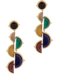Isharya - Abstract Mughal Gold-plated Earrings - Lyst