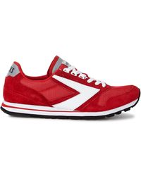 Brooks - Chariot Red Suede Trainers - Lyst