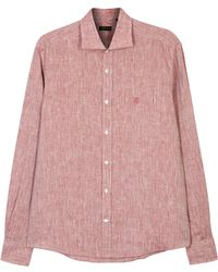Corneliani - Red Slubbed Linen Shirt - Lyst