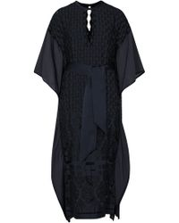 Mame - Navy Fil Coupé Dress - Lyst