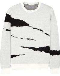Plac - Monochrome Jacquard-knit Jumper - Lyst