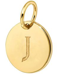 Missoma - J 18kt Gold-plated Charm - Lyst