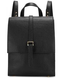 meli melo - Azzurra Black Leather Backpack - Lyst