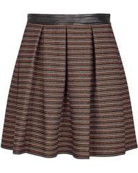 J.Lindeberg - Gemma Striped Woven Mini Skirt - Lyst