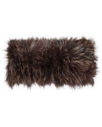 Hockley - Candy Brown Fur Wrap - Lyst