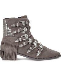 Ivy Kirzhner - Stampede Grey Suede Boots - Lyst