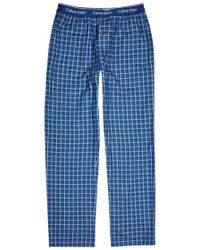 CALVIN KLEIN 205W39NYC - Checked Cotton Lounge Trousers - Lyst