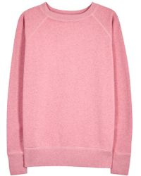 Étoile Isabel Marant - Billy Pink Cotton Blend Sweatshirt - Lyst