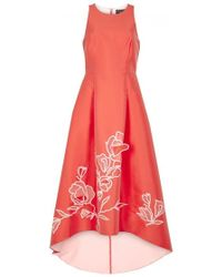 Noir Sachin & Babi - Ophelia Coral Cut-out Mikado Gown - Size 12 - Lyst