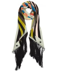 Givenchy - Egyptian Star Printed Silk Scarf - Lyst