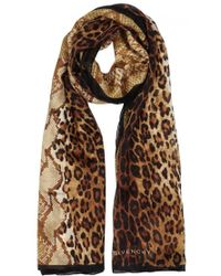 Snake Leo Printed Silk Chiffon Scarf