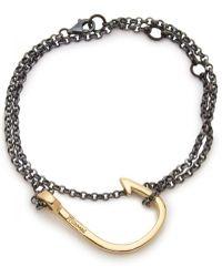 Miansai - Sterling Silver Hook Wrap Bracelet - Lyst