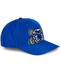 KENZO - Tiger-embroidered Canvas Cap - Lyst