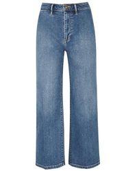 Vince - Blue Cropped Wide-leg Jeans - Lyst