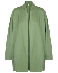 Eileen Fisher - Sage Organic Cotton Lightweight Jacket - Lyst