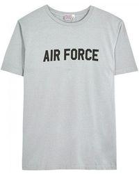 Ebbets Field Flannels - Air Force Grey Cotton T-shirt - Size L - Lyst