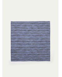 Hackett - Striped Linen Pocket Square - Lyst