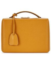 Mark Cross - Grace Small Yellow Leather Box Bag - Lyst