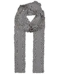 Magda Butrym - Monochrome Striped Silk Scarf - Lyst
