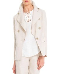 Max Studio - Cotton And Linen Doubleweave Jacket - Lyst